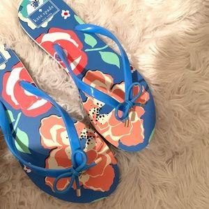 KATE SPADE | nova flip flops sandals size 10